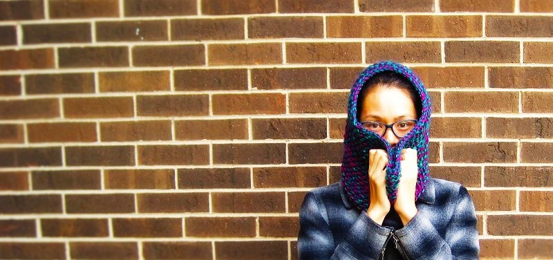 Quick knit: Seed stitch Cowl